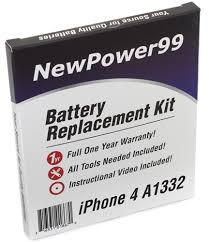 Apple iPhone 4 A1332 Battery Replacement Kit Extended Life
