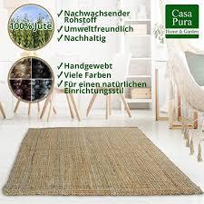 casa pura jute teppich webteppich aus naturfaser moderner