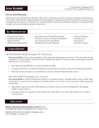 Bank Resume Format Banking Investment Banker Sample Career History Doc