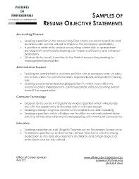 Resume Best Objective Possible Objectives Samples