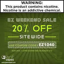 Giant Vapes EZ Weekend Sale Starts Now! - 25% Off Everything ... Giant Vapes On Twitter Save 20 Alloy Blends And Gvfam Hash Tags Deskgram Vape Vape Coupon Codes Ocvapors Instagram Photos Videos Vapes Coupon Code Black Friday Deals Vespa Scooters Net Memorial Day Sale Off Sitewide Fs 25 Infamous For The Month Wny Smokey Snuff Coupons Giantvapes Profile Picdeer Best Electronic Cigarette Vaping Mods Tanks