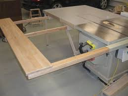 folding sliding table saw extension wing by screwge