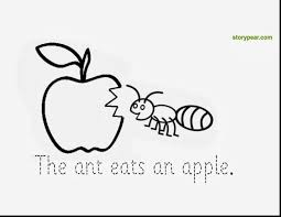 Remarkable Letter For Ant Apple Coloring Page With And Bully Pages