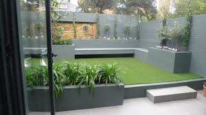 Modern Small Low Maintenance Garden Fake Grass Grey Raised Beds ... Backyards Innovative Low Maintenance With Artificial Grass Images Ideas Landscaping Backyard 17 Chris And Peyton Lambton Front Yard No Gr Architecture River Rock The Garden Small Appealing Easy Great Simple Grey Clay Make It Extraordinary Pics Design On Astonishing Maintenance Free Garden Ideas
