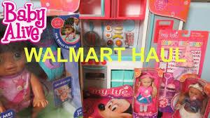 Princess Kitchen Play Set Walmart by Baby Alive My Life As Walmart Haul Kitchen Playset Birthday