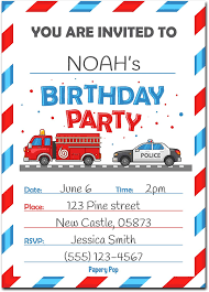 Birthday Invitations With Envelopes /(15 Count/) - Kids Birthday ...