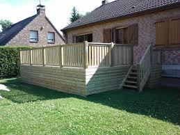 prix pose terrasse bois composite sur terre dalle beton