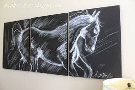 Pottery Barn Wall Decor by Spain Hill Farm Pottery Barn Inspired Horse Triptych
