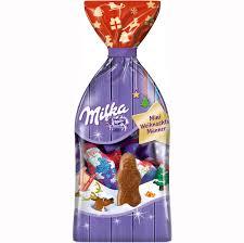 milka mini weihnachtsmänner aus zarter alpenmilchschokolade 120g