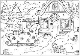 Count The Christmas Presents Puzzle Coloring Page