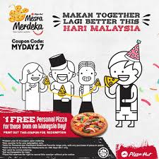 Pizza Hut FREE Personal Pizza For Malaysia Day Babies