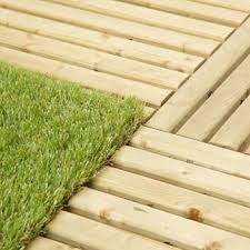 outdoor deck turf tile wood base turf top tile