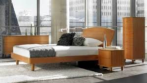 BedroomLuxurious Scandinavian Bedroom Furniture With Glass Wall And White Bed Sheet Also