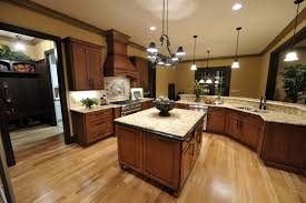 Image Of What Color Hardwood Floor With Dark Cabinets Brown