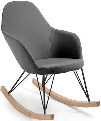 NIAGARA Light Blue Or Grey Fabric Rocking Chair - Livitalia ...