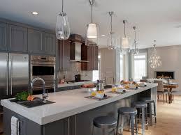 kitchen decorating using clear glass mini pendant light