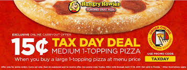 Hungry Howies Coupon September 2018 Second Pizza 15 Cents Today At Via Promo