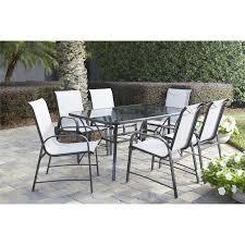 Cosco Outdoor Living Paloma 7-Piece Dining Set, Gray
