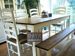 Long Dining Table With Bench Square Large Seats 8 Likeable Room