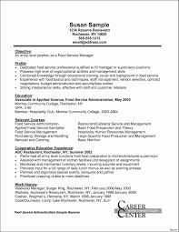 Food Service Resume Valid Worker Sample S Fast Objective For Full Size