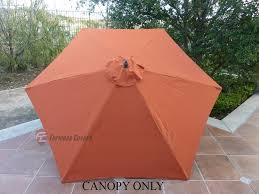 Market Umbrella Replacement Canopy 8 Rib by Patio Umbrella Replacement Cover Canopy 6 Ribs Terra Cotta