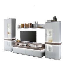 Anbauwand Wohnzimmer Mã Bel Ideal Möbel Wohnwand Albi Kombination 13 Mit Vitrinen Wandbord Und Tv Element Anbauwand Für Wohnzimmer Ausführung Wählbar