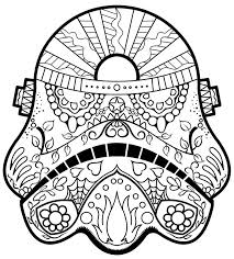 Easy Day Of The Dead Coloring Pages