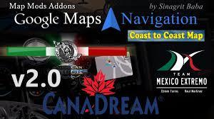 100 Google Truck Maps ATS Navigation Normal Night Version Map Mods Addons