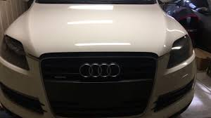 how to headlight bulb change audi q7
