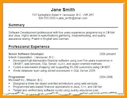 Resume Summary Example On 9 Professional Sample Retail Manager For Career