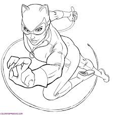 Free Catwoman Coloring Pages To Print For Kids Download And Color
