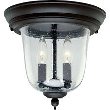 Home Depot Ceiling Lights Flush Mount by Progress Lighting Ashmore Collection 2 Light Outdoor Textured