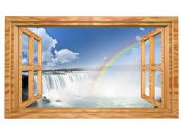 3d wandmotiv regenbogen wasserfall wasser fenster wandbild selbstklebend wandtattoo wohnzimmer wand aufkleber 11e423 3dwandtattoo24 de