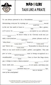 Halloween Mad Libs For 3rd Grade by Pirates Mad Libs Additional Photo Inside Page Fun Things To