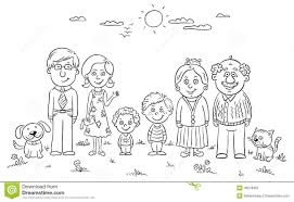Family Black And White Clipart 32