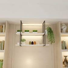 zrx schweberegale hängende decke dekoration regal küche storage display massivholz und metall eisen 1 tier 2 tier 3 tier 100cm länge