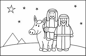 Mary And Joseph Coloring Pages 540
