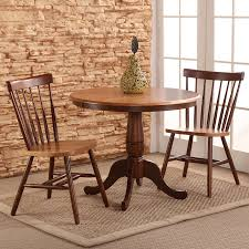 Round Dining Room Sets by Shop International Concepts Cinnamon Espresso Dining Set With