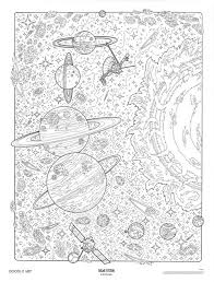 SOLAR SYSTEM Doodle Art Colouring Poster This Was Uploaded By Doodleartposters FREE Jpg Download