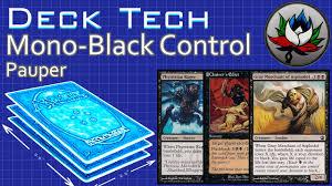 mono black control budget pauper deck tech mtg youtube