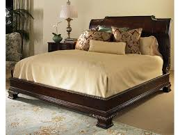 King Platform Bed With Leather Headboard by Bedroom Brown Lacquered Mahogany Wood King Size Platform Bed With