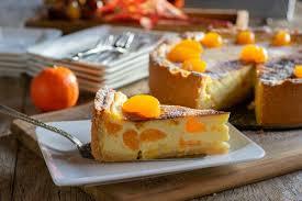 saftiger käsekuchen mit mandarinen