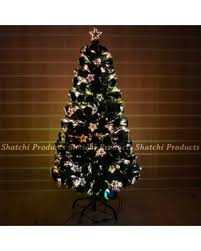 60cm Pre Let Light Up Star Fibre Optic Christmas Tree Prelit Xmas Decoration 2ft