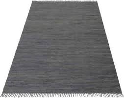 teppich handweb uni home affaire rechteckig höhe 5 mm reine baumwolle wendeteppich mit fransen wohnzimmer