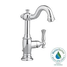 Polished Brass Bathroom Faucets Single Hole by American Standard Quentin Monoblock Single Hole Single Handle