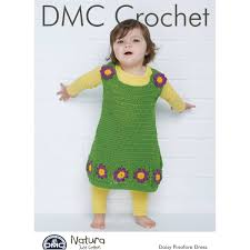 Dmc Natura Crochet Daisy Pinafore Dress Pattern 15437 Hobbycraft