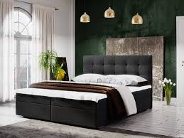 boxspringbett schlafzimmerbett kerlon 160x200cm schwarz bettkasten