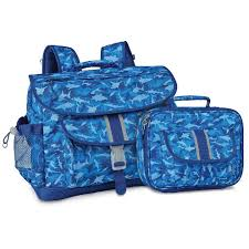 Medium Shark Camo Backpack Lunchbox Bundle