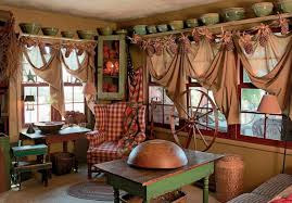 Country Living Dining Room Ideas by Living Room Rustic Drapes Primitive Curtains For Living Room