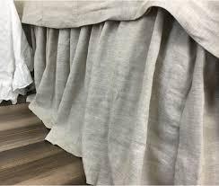 Split Corner Bed Skirt by Natural Linen Bed Skirt Medium Weight Linen 15 24